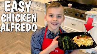 Best Chicken Fettuccine Alfredo Recipe || Family Fun Pack Cooking With Chris