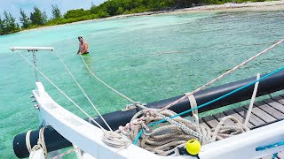 NO! WE'RE AGROUND ON A REEF | PT 1 - Ep 109 Sailing Luckyfish