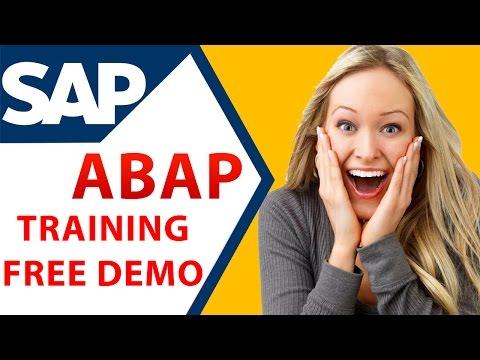 SAP ABAP ONLINE TRAINING - BEST Explanation - YouTube
