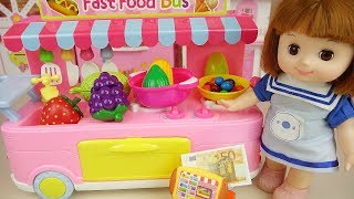 Food shop Baby doll kitchen play baby Doli house