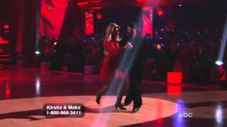 Kirstie Alley and Maksim Chmerkovskiy Dancing with the Stars Tango