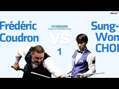 [당구-Billiard] 3 Cushion_Frédéric Coudron v Sung-Won Choi_World Cup Champions League_Full_1