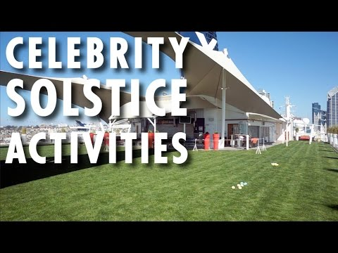 Celebrity Solstice Tour & Review: Activities ~ Celebrity Cruises ~ Cruise Ship Tour & Review