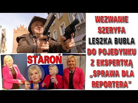 """Wezwanie Szeryfa Leszka Bubla do pojedynku z ekspertką """"Sprawa dla Reportera"""" Elżbiety Jaworowicz"""