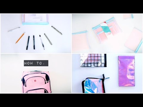 TRAVEL & PACKING ORGANIZATION | tips & how to