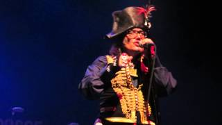 "3 Adam Ant-""Kick""-LIVE Regency Ballroom, San Francisco, CA, September 12, 2013"
