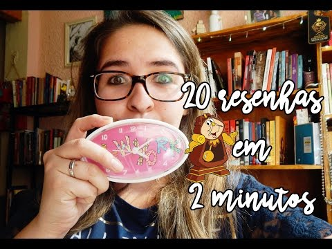 20 resenhas 2 minutos | Aventuras na Leitura