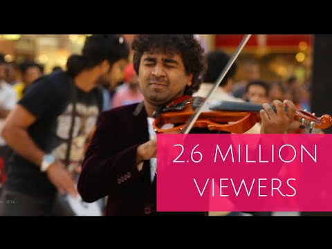 Surprise Violin Show In a Mall (Part 2) -Abhijith P S Nair &Band -Musthaffa and Pirates-A.R.Rahman