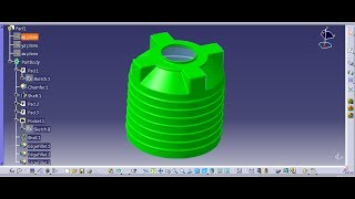 CATIA Beginner Tutorial: Water Tank- LEARNING TUTORIAL-HOW TO MAKE WATER TANK -PART DESIGN