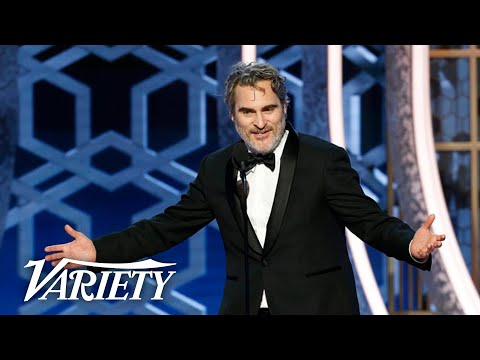 Joaquin Phoenix Drops F-Bombs in 'Joker' Speech at the Golden Globes