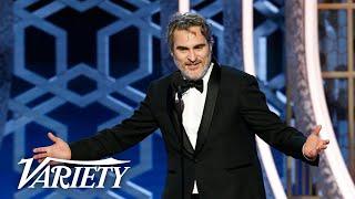 Penuh Sensor, Inilah Pidato Joaquin Phoenix Saat Menang di Golden Globes 2020