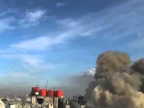 Сирия СЕГОДНЯ 2016!Момент попадания ракеты БеТАБ 500 по командному пункту ИГИЛа в пров Дамаск