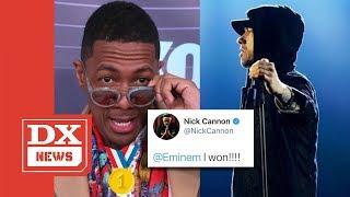 Nick Cannon Declares Himself The Winner In Eminem Rap Battle