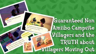 Guaranteed Non Amiibo Campsite Villagers and the TRUTH about Villagers Moving Out