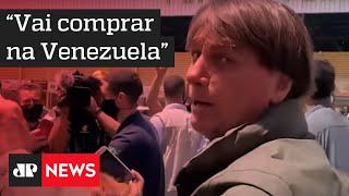 Bolsonaro se irrita com crítica sobre preço do arroz