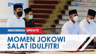 Momen Jokowi dan Ibu Iriana Laksanakan Salat Idulfitri di Istana Bogor, Prokes Ketat Diterapkan