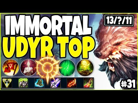 IMMORTAL UDYR TOP LANE CARRY | BEST LoL Meta Udyr Season 10 Build Guide #31 - Top Udyr s10 Gameplay