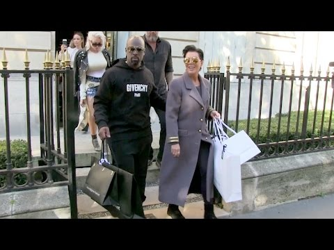EXCLUSIVE - Kris Jenner and boyfriend Corey Gamble on a shopping spree in Paris