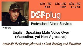 English Speaking Male Voiceover Services