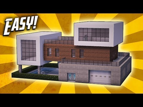 Minecraft: How To Build A Modern Mansion House Tutorial (#29)