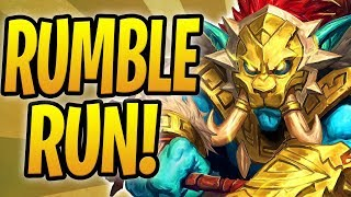 *WORLD FIRST* COMPLETE RUMBLE RUN ATTEMPT! | Rastakhan's Rumble Adventure | Hearthstone