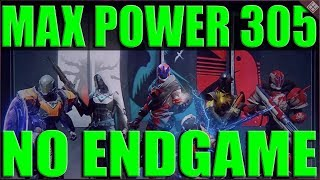 Destiny 2 How to Reach Max Power 305 Without Playing End Game Content or the Game Each Week