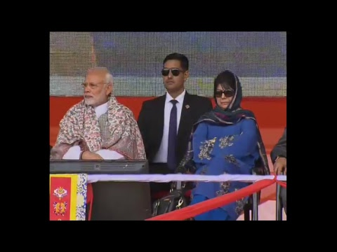 PM Modi unveils the Plaque to mark the Commencement of work on Zojila Tunnel in Leh