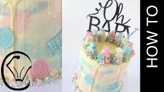 Tall Buttercream Layer Cake Homemade Chocolate Cake Sprinkle Mix Birthday Cake Gender Cake