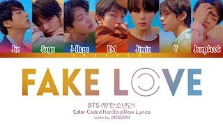 BTS (방탄소년단) - FAKE LOVE (Color Coded Lyrics Eng/Rom/Han)