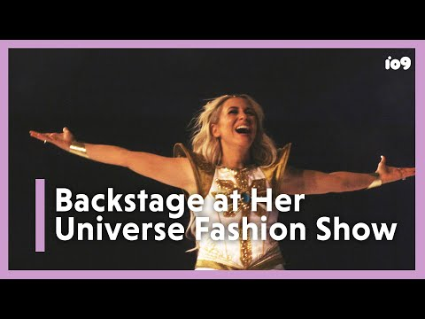 Backstage With Ashley Eckstein At Her Universe's SDCC Fashion Show