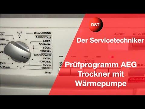 AEG, Electrolux Wärmepumpentrockner Prüfprogramm, Dryer