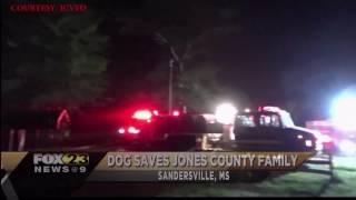 Family Dog Credited With Saving Father & Son From Fire