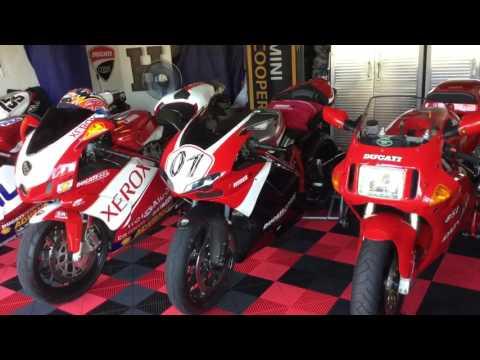 Ducati museum 851, 998S Bostrom, 999R Fila, 999R Xerox, and 1198 Corse SE 001