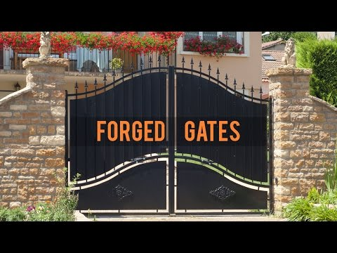 Stylish Wrought Iron Entryway To A Home | Wrought Iron Gates Mp3