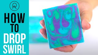 How To Do A Basic Drop Swirl In Cold Process Soap | Royalty Soaps