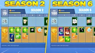 Evolution of Fortnite Battle Pass Items From Season 2 - Season 6! (Fortnite Nostalgia)