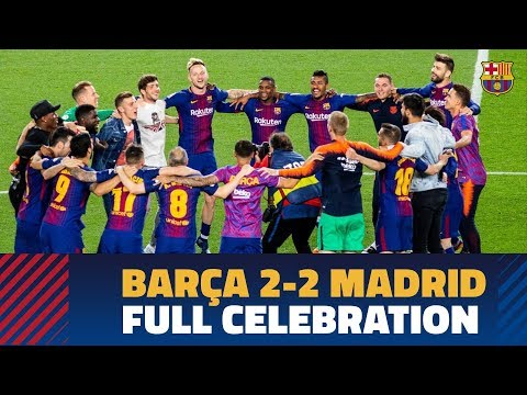 BARÇA 2-2 MADRID | Celebrations at Camp Nou