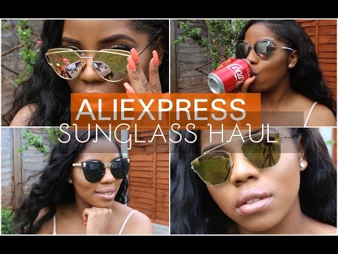ALIEXPRESS SUNGLASS HAUL| Cheap and good quality | prada, celine and quay dupe | Mercy Exquisite