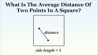 VERY HARD Puzzle: What Is The Distance Between Two Random Points In A Square?