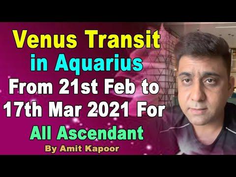 Venus Transit in Aquarius From 21st Feb to 17th Mar 2021 For All Ascendant by #ASTROLOGERAMITKAPOOR