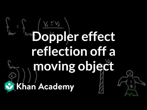 Doppler effect: reflection off a moving object (video) | Khan Academy