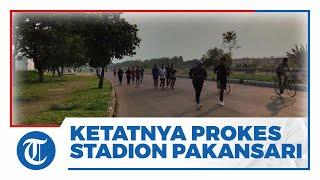 Ratusan Warga Kota Bogor Berolahraga di Ring 5 Stadion Pakansari, Prokes dan Pengamanan Masih Ketat