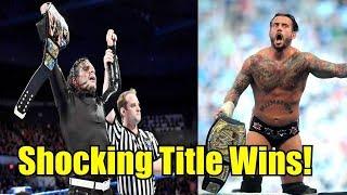 10 Times Someone SHOCKING Won A WWE Title! - Jeff Hardy, CM Punk & More!
