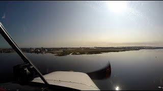 HD Cockpit View Approach & Arrival into Galveston, Texas in Cessna 172 Scholes International Airport