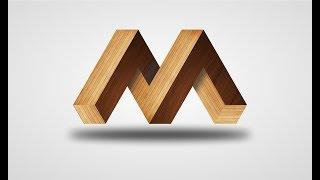 How To Make 3D Logo Tutorial Urdu / Hindi || 3d M Logo