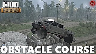 SpinTires MudRunner: TRUCK OBSTACLE COURSE! 4x4 Trails - FULL EXPLORATION, Part 2