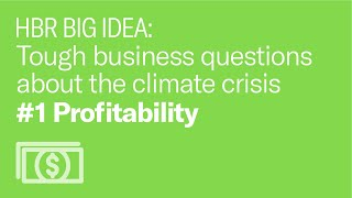 What if helping the environment isn't profitable for my business?