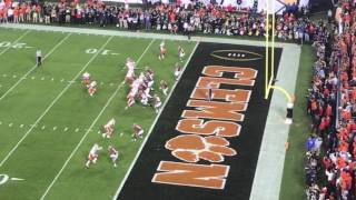 Clemson vs. Alabama game winning touchdown in CFP 2017 live