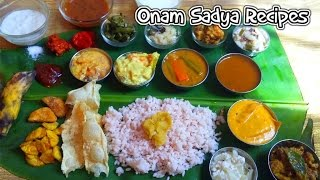Kerala Onam Sadya Recipes