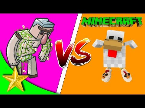 TAVUK vs GOLEM - Minecraft PVP